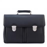 Men's leather briefcase, Brummel Pocket