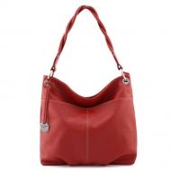 Leather Hobo Bag, Simonetta S