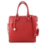 Leather shoulder briefcase, Dakota