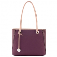 Leather shoulder bag, Silvia