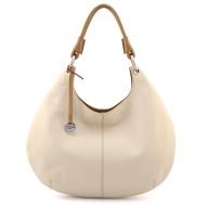 Leather Hobo Bag, Moon