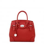 Italian leather handbag with strap, Claudia 27