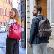 Leather backpacks for men and women