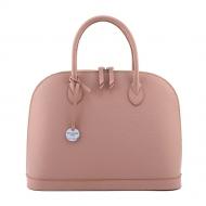 Leather handbag with strap, Sofia 35