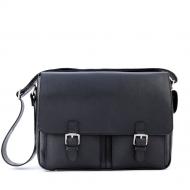 Men's italian leather messenger bag, Berardo