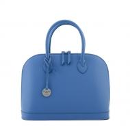 Leather handbag with strap, Sofia 31