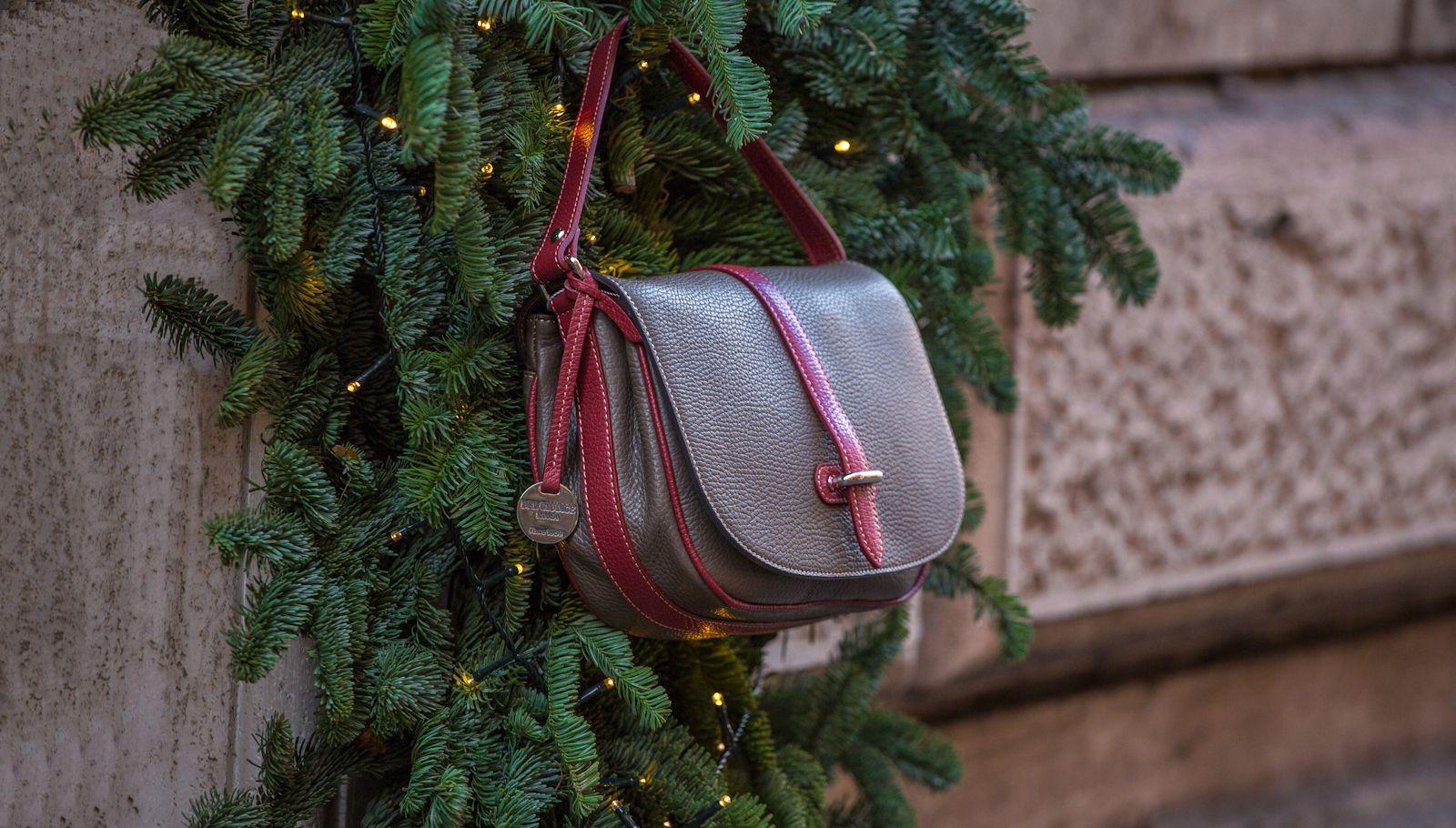 Handmade italian leather bag, Bea