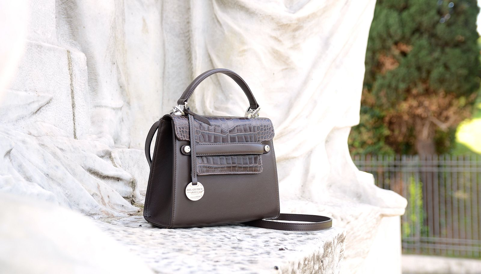 Italian leather handbag, Amelia
