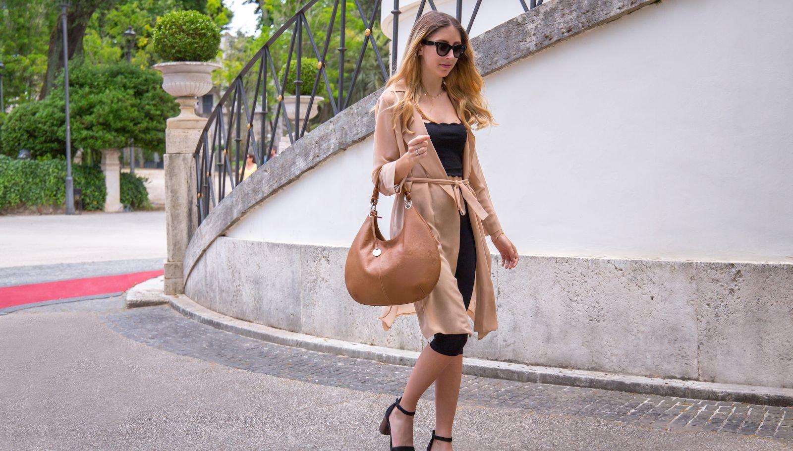 Italian leather bag Moon