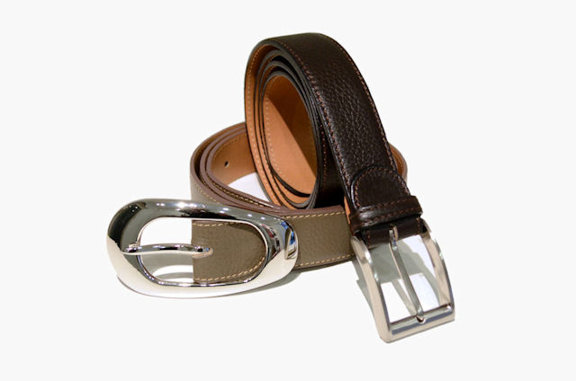Handmade Italian leather belts for men and women