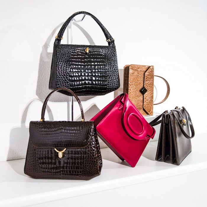 Historical leather bags from the 50s and 60s