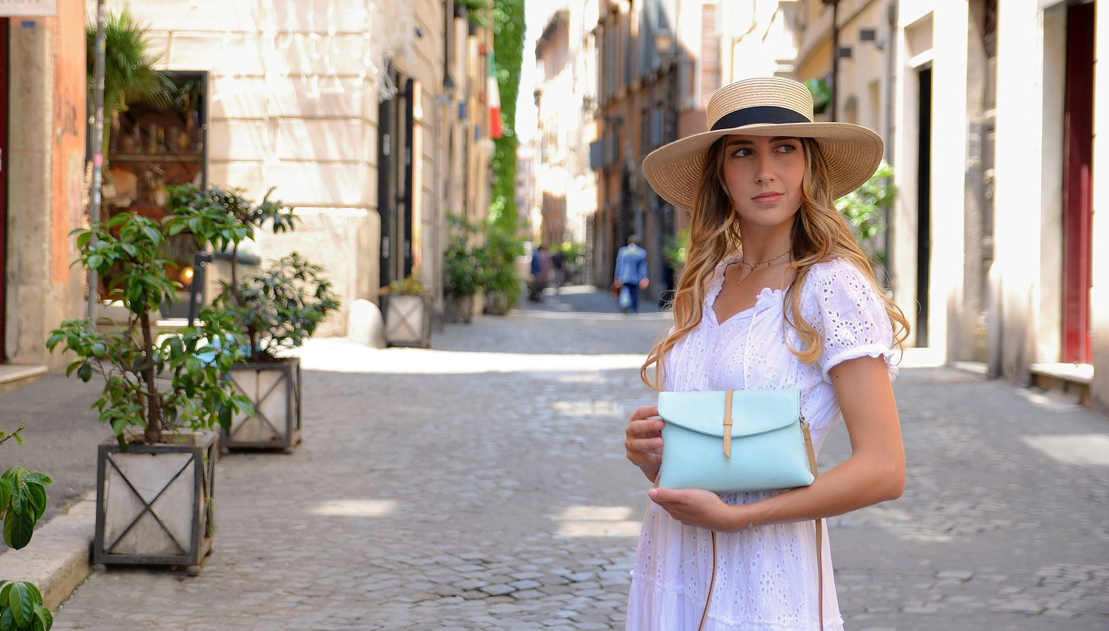 Italian leather bag - Leila