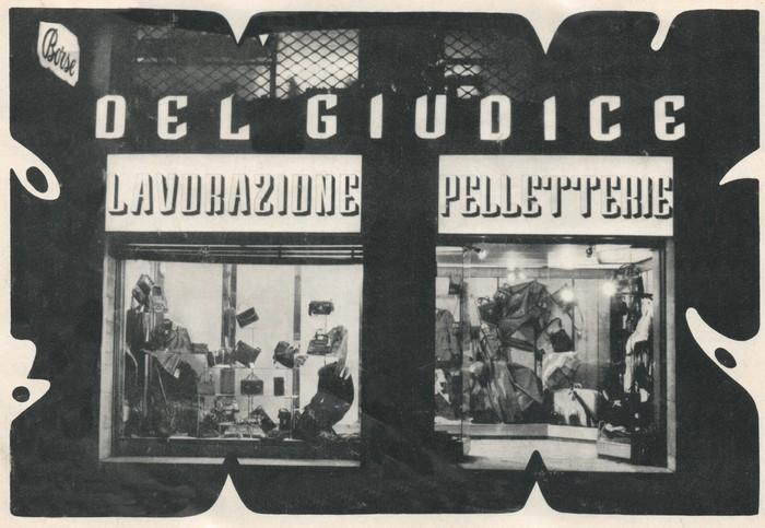 Primo negozio di pelletteria Del Giudice - Roma, 1961
