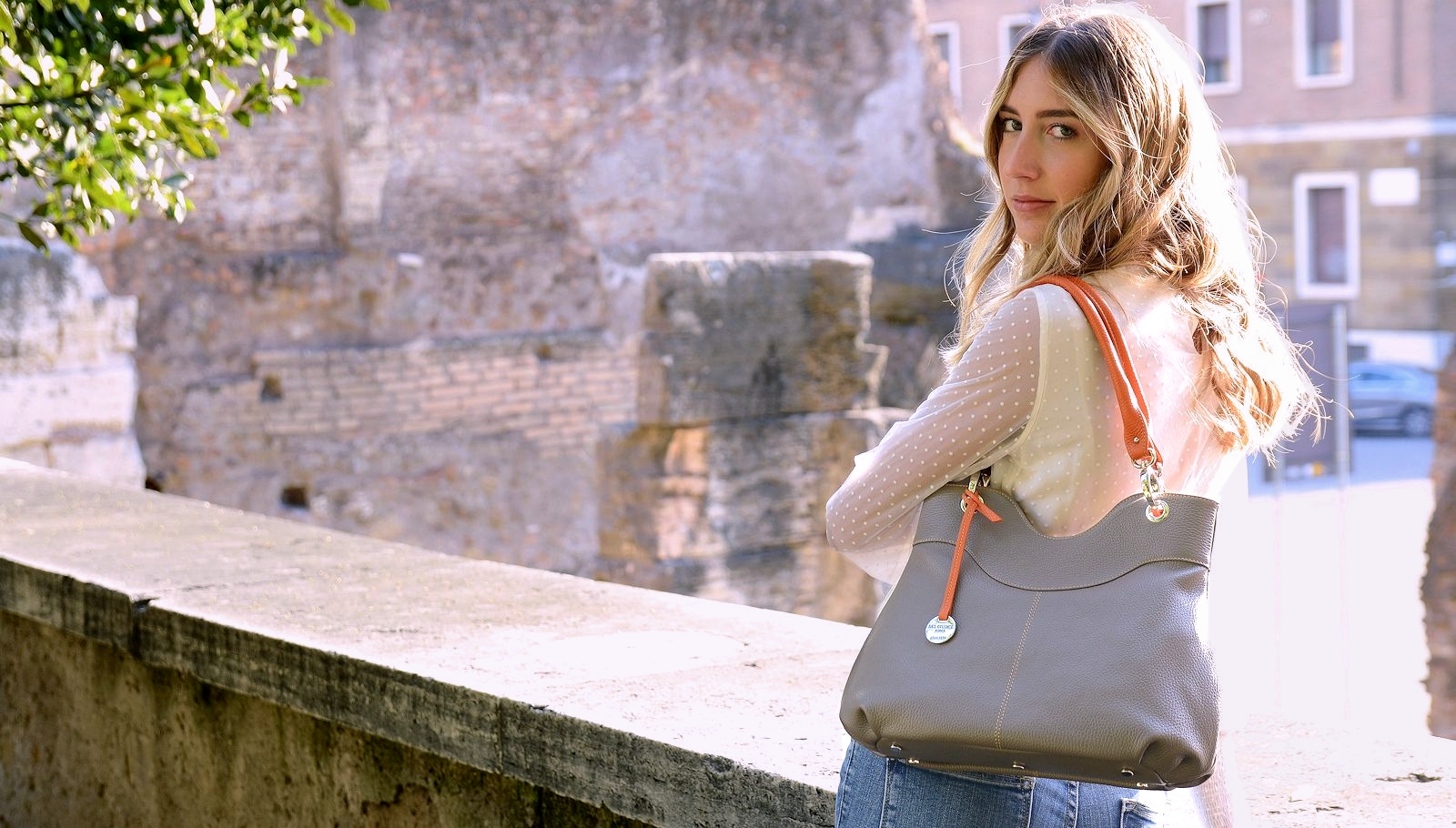 Italian leather bag - Luisa