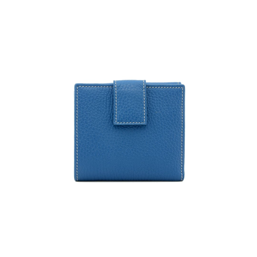 Women's leather wallet color turquoise - P255