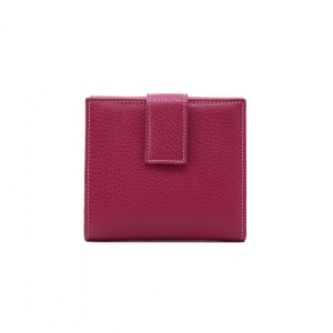 P250 leather wallet magenta color