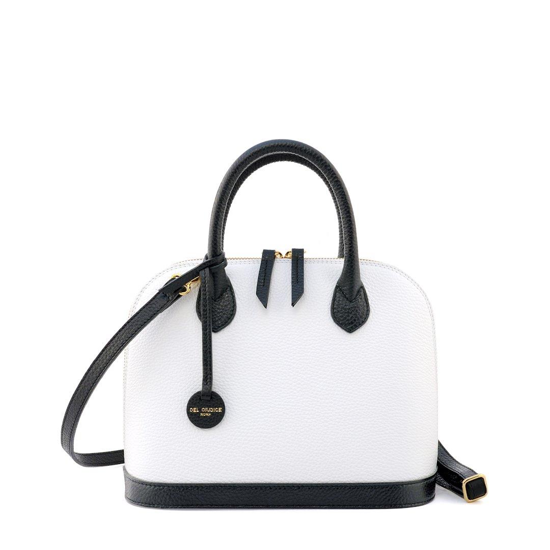 borsa a mano colore bianco-nero - Sofia 26